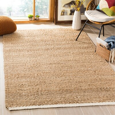 Natural Fiber Ivory/Natural Area Rug Rug Size: Rectangle 5 x 8