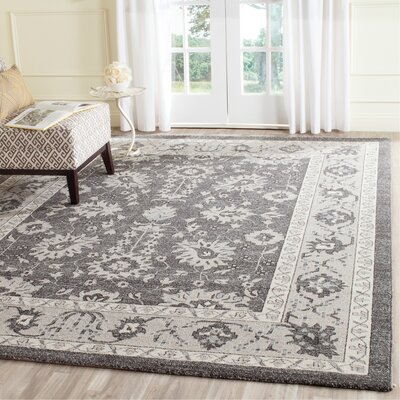 Carmel Dark Gray/Beige Area Rug Rug Size: Rectangle 8 x 10