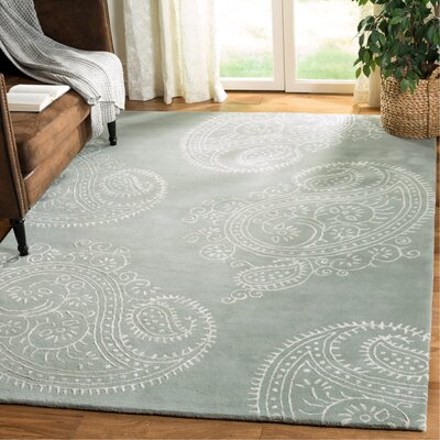 Shillington Hand-Tufted Gray/Ivory Area Rug Rug Size: Rectangle 6 x 9