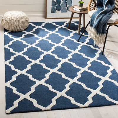 Parker Lane Hand Tufted Navy Area Rug Rug Size: Rectangle 5 x 8