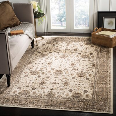 Carolus Ivory Area Rug Rug Size: Rectangle 22 x 37