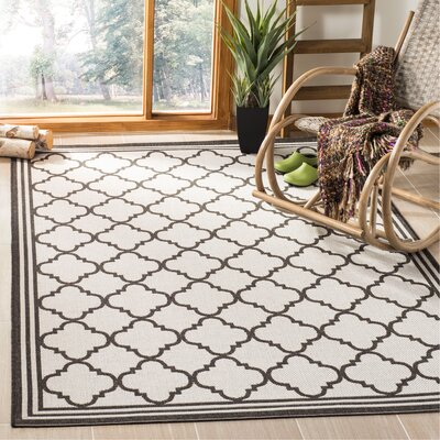 Burnell Contemporary Light Gray Area Rug Rug Size: Rectangle 51 x 76