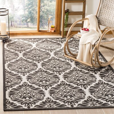 Burnell Boho Light Gray Area Rug Rug Size: Rectangle 4 x 6