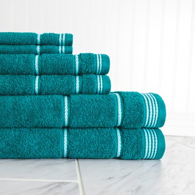6 Piece Towel Set Color: Crystal Teal
