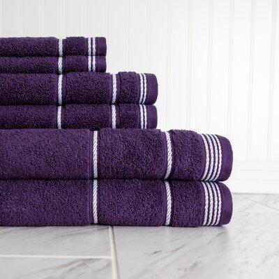 6 Piece Towel Set Color: Blackberry Cordial