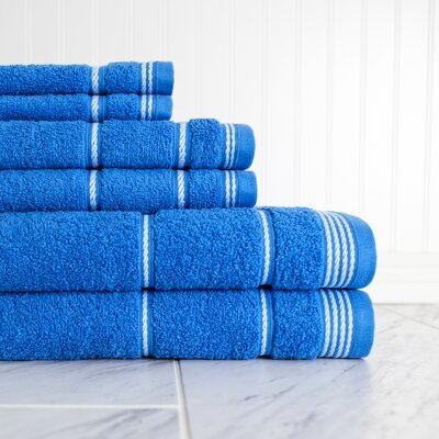 6 Piece Towel Set Color: Palace Blue