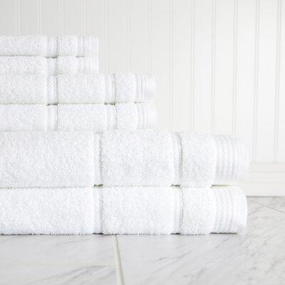 6 Piece Towel Set Color: White 458342D56BFE4A5EAC30FF676A6D1ED0