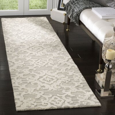 Bevis Hand Tufted Wool Gray Area Rug Rug Size: Runner 23 x 8