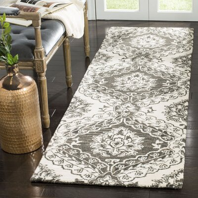 Bevis Hand Tufted Wool Charcoal Area Rug Rug Size: Runner 23 x 8