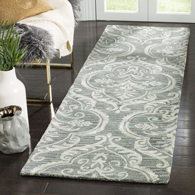 Bevis Hand Tufted Wool Blue Area Rug Rug Size: Runner 23 x 8