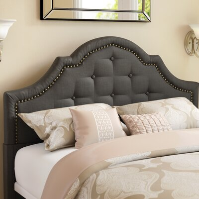 Ryedale Upholstered Panel Headboard Size: Eastern King, Upholstery: Black