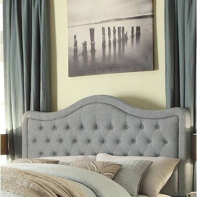 Turin Tufted Upholstered Panel Headboard Size: King, Upholstery: Gray
