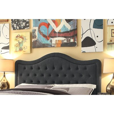 Turin Tufted Upholstered Panel Headboard Size: King, Upholstery: Charcoal