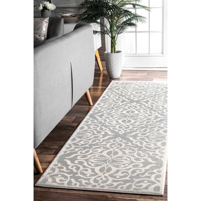 Shoals Silver Area Rug Rug Size: Runner 28 x 8