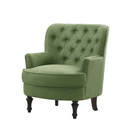 Jagger Arm Chair Upholstery: Green