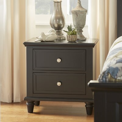 Isabella 2 Drawer Nightstand Color: Vulcan Black