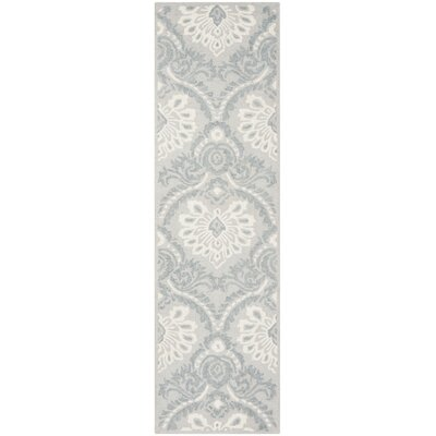 Bevis Hand Tufted Wool Light Gray Area Rug Rug Size: Runner 23 x 8