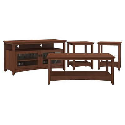 Fralick 4 Piece Coffee Table Set Color: Serene Cherry