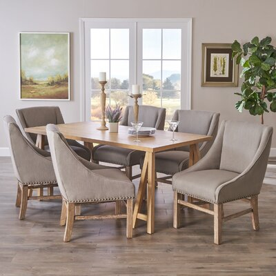 Williamsville 7 Piece Dining Set Finish: Oak