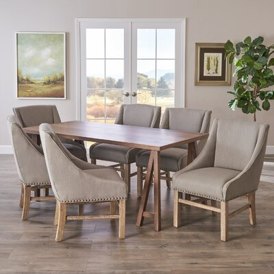 Williamsville 7 Piece Dining Set Finish: Walnut