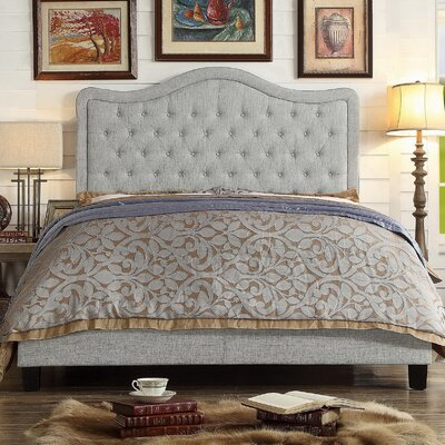 Turin Upholstered Platform Bed Size: King, Color: Gray, Upholstery Type: Other