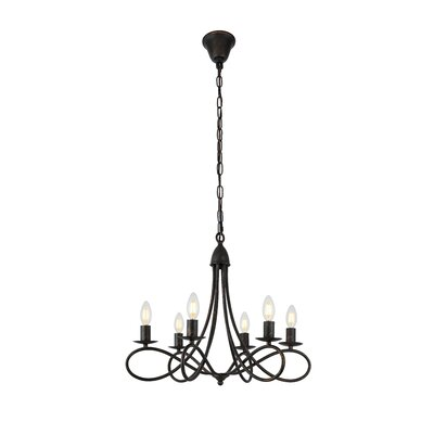 Diaz 6-Light Candle-Style Chandelier Finish: Dark Bronze
