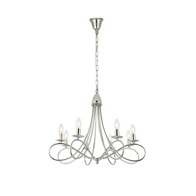 Diaz 8-Light Candle-Style Chandelier Finish: Polished Nickel
