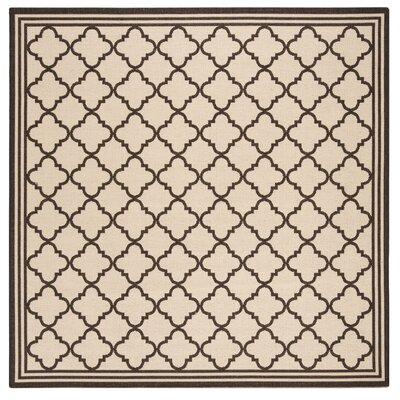 Sherell Creme/Brown Area Rug Rug Size: Square 67