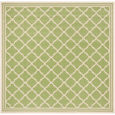 Sherell Olive/Cream Area Rug Rug Size: Square 67
