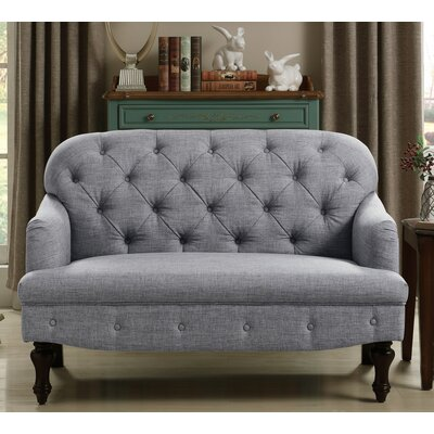 Fonzo Loveseat Upholstery: Gray