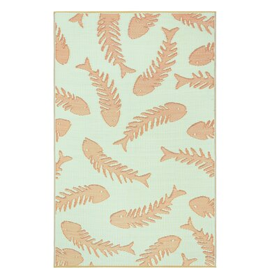 Tammie Reversible Indoor/Outdoor Doormat Mat Size: Rectangle 5 x 8, Color: Salmon Aqua