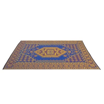 Tammie Reversible Indoor/Outdoor Doormat Mat Size: Rectangle 4 x 6, Color: Blue