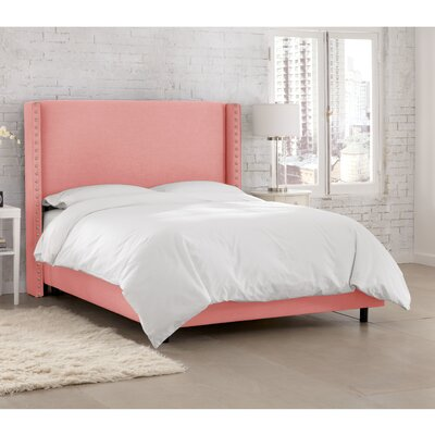 Peoria Upholstered Panel Bed Size: Queen, Color: Linen Petal