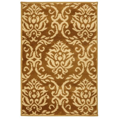 Macias Fleur De Lis Gold Area Rug Rug Size: Rectangle 2 x 3