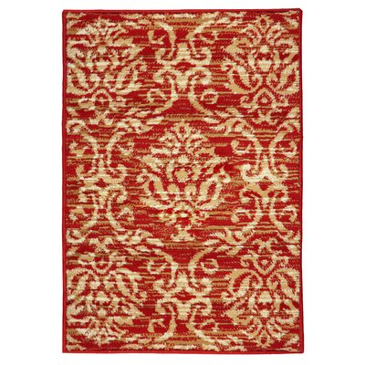 Macias Fleur De Lis Red/Beige Area Rug Rug Size: Rectangle 2 x 3