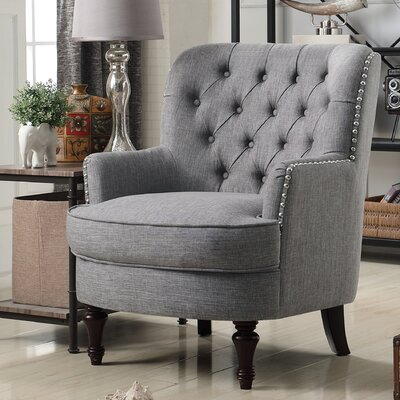 Jagger Arm Chair Upholstery: Gray