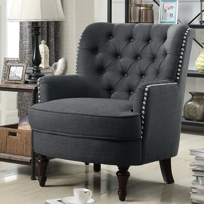 Jagger Arm Chair Upholstery: Charcoal