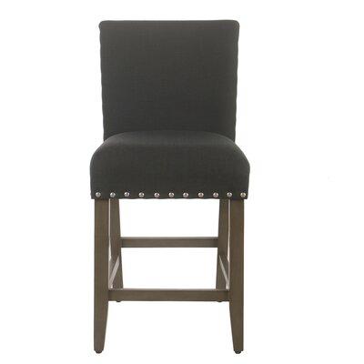 Arlene 24 Bar Stool Seat Color: Dark Charcoal, Frame Color: Patina Gray