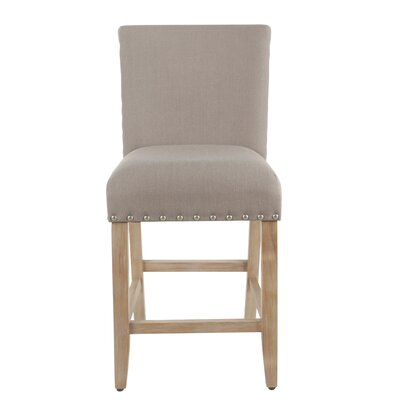 Arlene 24 Bar Stool Seat Color: Tan, Frame Color: White Washed