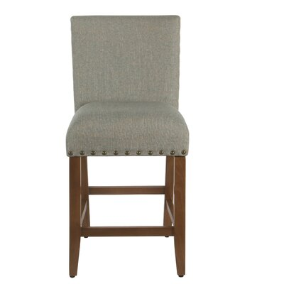 Arlene 24 Bar Stool Seat Color: Light Teal, Frame Color: Gray Washed