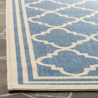 Sherell Blue/Creme Area Rug Rug Size: Rectangle 51 x 76
