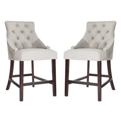 Ayansh 26 Bar Stool Upholstery: Velvet-Gray