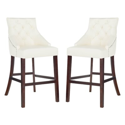 Ishaan 45 Bar Stool Color: White