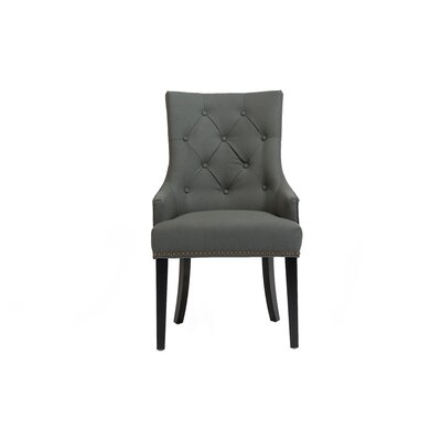 Streater Upholstered Dining Chair Upholstery Color: Gray