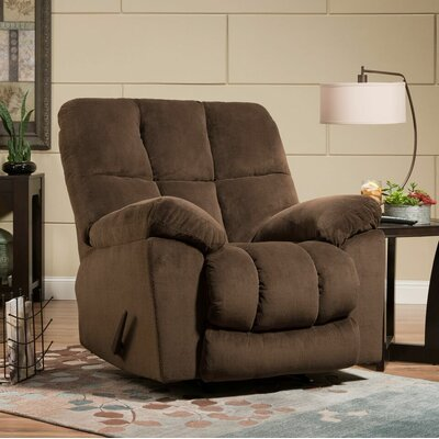 Pickering Manual Rocker Recliner by Simmons Upholstery Upholstery: Coffee