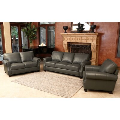 Cairnbrook 3 Piece Leather Living Room Set