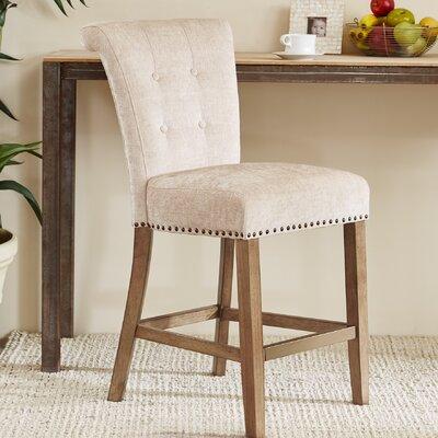 Olivier 24.5 Bar Stool Upholstery: Cream