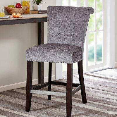 Olivier 24.5 Bar Stool Upholstery: Grey