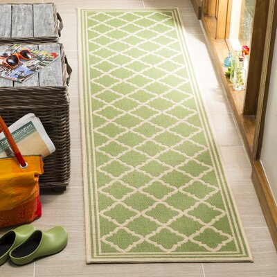 Sherell Olive/Cream Area Rug Rug Size: Runner 2 x 8