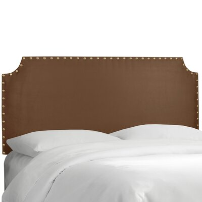 Adelia Upholstered Panel Headboard Size: Twin, Upholstery: Premier Chocolate